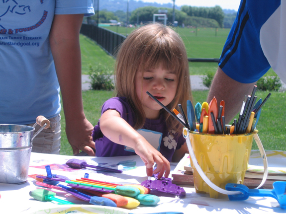 Arts and Crafts at LFG Football Fun Tent.JPG